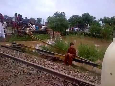 Flood Threat in Sialkot (Train Pul Nala Aik)