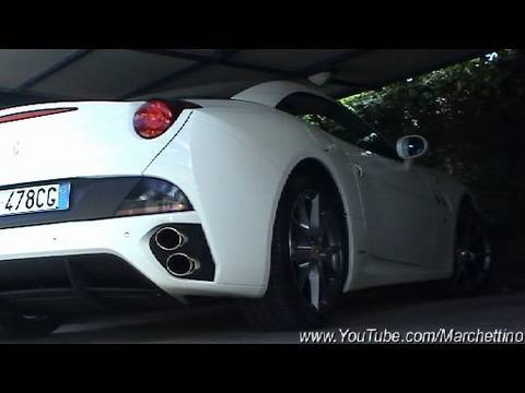White Ferrari California. White Ferrari California