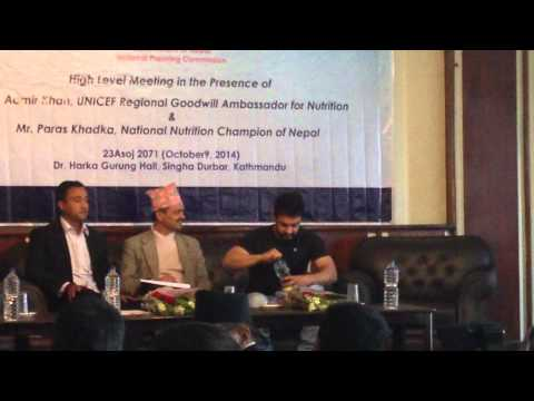 Aamir Khan visit to Nepal, 2014-10-09 at National Planning Commission