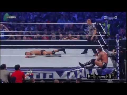 Wwe Wrestlemania 27 Cm Punk Vs Randy Orton Highlights video
