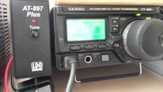 Yaesu ft-897d receiving 20m qso of IZ4NPE