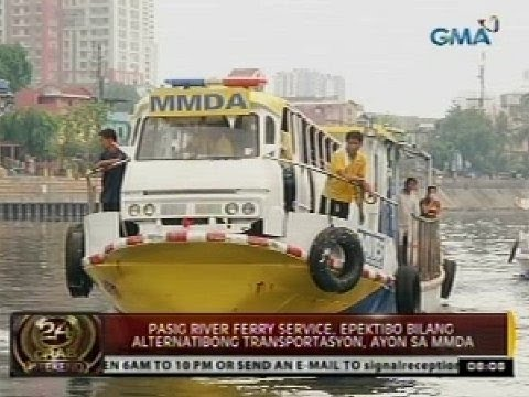 24 Oras: MMDA: Pasig River Ferry Service, epektibo bilang alternatibong transportasyon