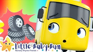 Flat Tires Song - Go Buster - Baby Songs | Nursery Rhymes and Kids Songs | Little Baby Bum