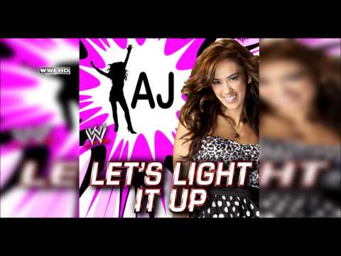 WWE: Lets Light It Up (AJ Lee) Theme Song + AE (Arena Effect...