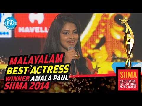 SIIMA 2014 Malayalam Best Actress   Amala Paul   Oru Indian Pranayakadha