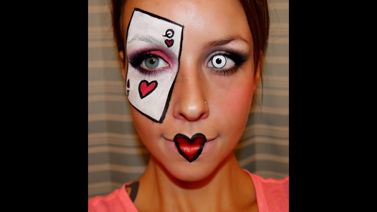 queen of hearts alice in wonderland makeup - sh
