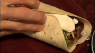 5 Minute VEGETARIAN BURRITO (secret recipe)