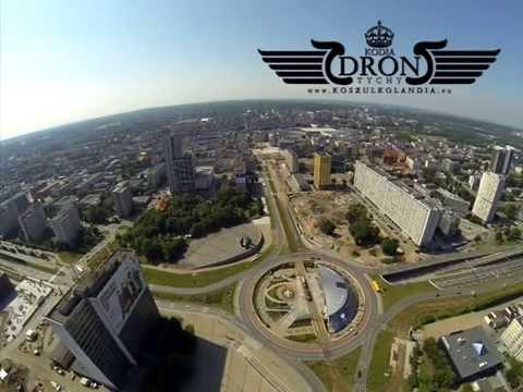 Katowice Z LOTU PTAKA Spodek Widok Na Centrum Miasta Silesia City Center W Tle