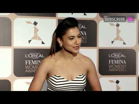 Gauhar khan at L'oreal Paris Femina Women Awards 2015
