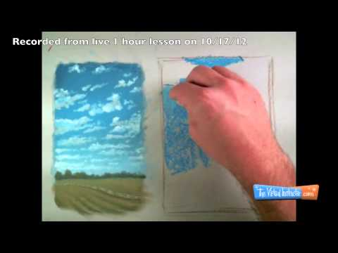Drawing Clouds with Soft Pastels - Two Approaches - Time Lapse