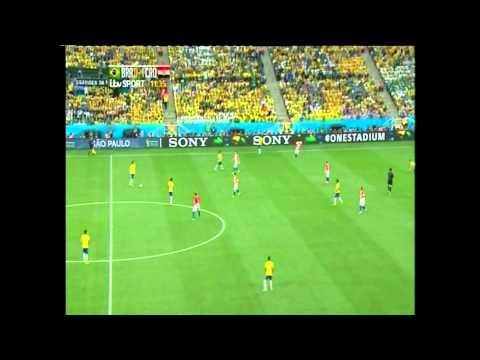World Cup 2014   Marcelo Own Goal   Croatia 1-0 Brazil