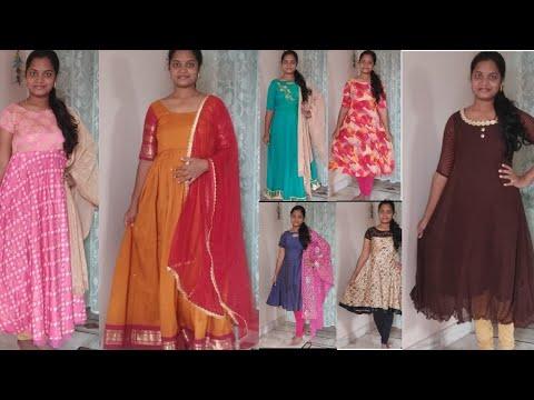 నా kurtis haul //తక్కువ budget లో//under 500/-//old sarees to dress //my own designs