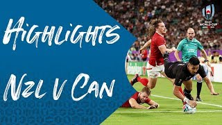 Highlights: New Zealand v Canada - Rugby World Cup 2019