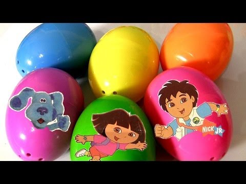 6 Nickelodeon Surprise Eggs Diego Backyardigans Blue's Clues Dora the Explorer Go.Diego.Go!