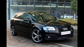 BF62KDO AUDI A3 SPORTBACK TDI S LINE SPECIAL EDITION BLACK 2012, West London Audi