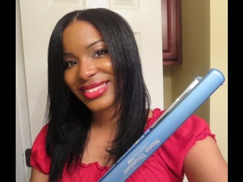 How I Flatiron My Natural Hair!~PiecesofNika