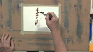 How to Use a Palette Knife with Watercolors