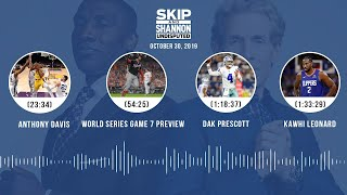 UNDISPUTED Audio Podcast (10.30.19) with Skip Bayless, Shannon Sharpe & Jenny Taft | UNDISPUTED