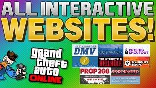 GTA 5 Online Secrets - ALL INTERACTIVE SECRET WEBSITES!! (GTA 5 Online)