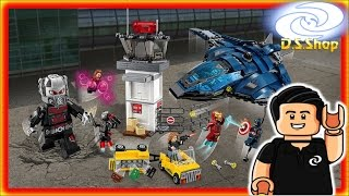 Lego Captain America Civil War Batalla de los Superheroes en el Aeropuerto 76051 Speed build