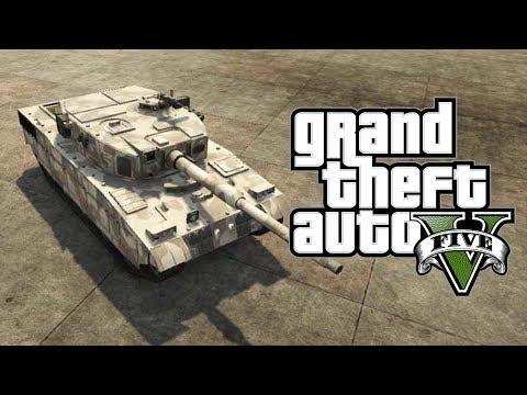 GTA 5 Online - FREE Rhino Tank Online Tutorial! [GTA V Online]