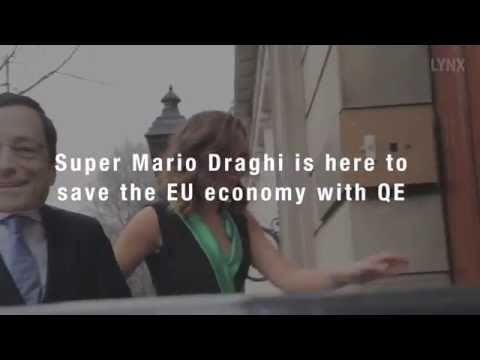 Super Mario Draghi is here to save the EU economy with QE - created by LYNX