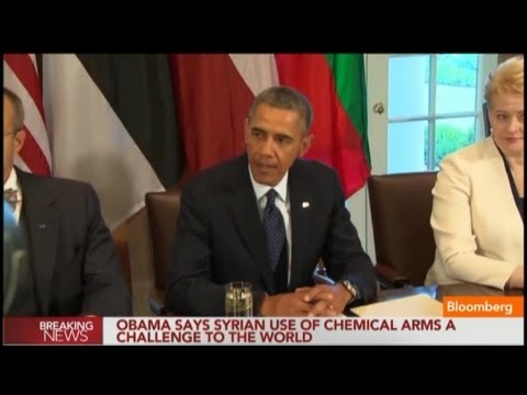 Obama: Syrian Chemical Arms Use Threatens Security
