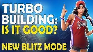 IS TURBO BUILDING GOOD ?   NEW BLITZ MODE   HIGH KILL FUNNY GAME- (Fortnite Battle Royale)