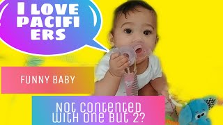 FILIPINA RAISING A BABY IN AMERICA V14: MY FUNNY BABY LOVES PACIFIER A LOT!