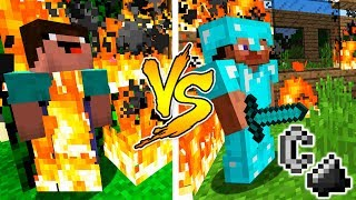 MINECRAFT - NOOB VS PRO: FIRE BATTLE in Minecraft