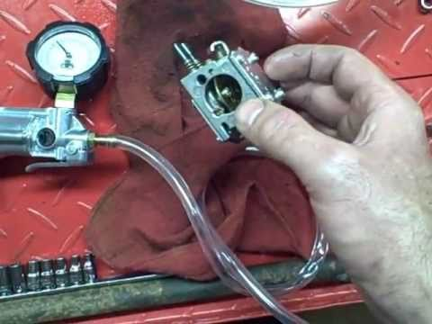 Small Engine Repair: Checking Fuel Pump Diaphragm & Inlet Needle on a Diaphragm Carburetor