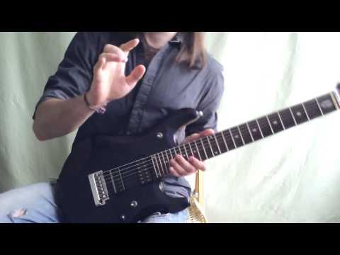 Урок по свипу (Sweep lesson) pt.3 Перекаты пальцев по двум и трем струнам на одном ладу.