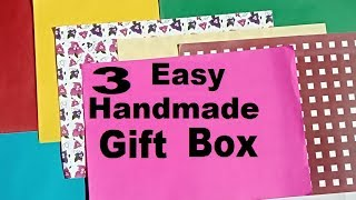 3 Easy Decorative Gift Box | DIY Paper Craft Activities | Handmade Gift  Box