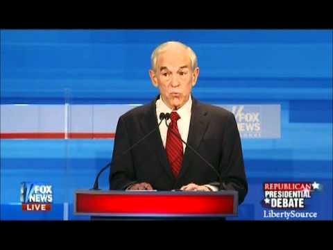 Ron Paul on Iran Fox News Republican Debate 12/15/11