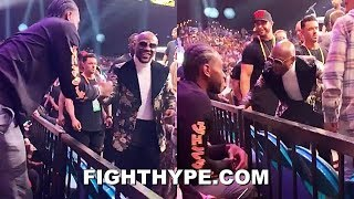 MAYWEATHER & KAWHI LEONARD LINK UP TO WATCH PACQUIAO DROP AND BEAT THURMAN AT MGM GRAND