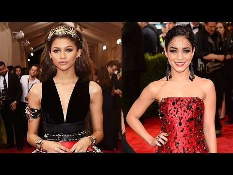 Zendaya vs Vanessa Hudgens Dresses at Met Gala 2015
