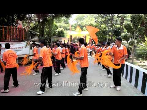 Maharashtra Lezim - Jhanj performed during Ganesh Chaturthi festival