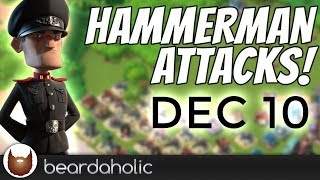 Boom Beach Lt. Hammerman Iceless Defensive Gameplay for Stages 1-7 on Dec 10, 2018