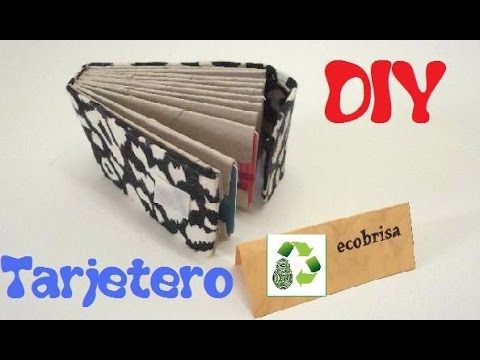 63. DIY CARD CARRIER (TARJETERO) RECICLAJE DE TUBOS DE PAPEL