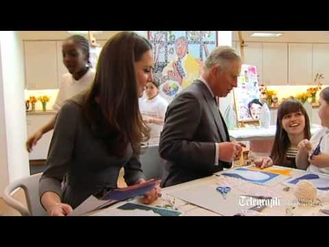 Duchess of Cambridge and Prince of Wales get arty at Dulwich Gallery