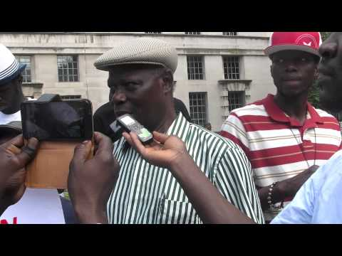 Gambians London Demonstration Against Yahya Jammeh's 20yrs of Dictatorship
