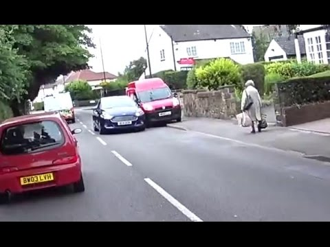 Car Swipes Royal Mail Van & Drives Off - Derby