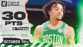 Carsen Edwards IS ON FIRE! Full Highlights vs Cavaliers (2019.10.15) - 30 Points, 9 Threes!