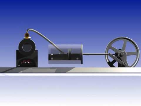 NEW 3D Animation  Steam Engine Dampfmotor Inventor Pro 2010