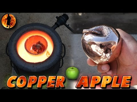 """ No Music "" Casting A Solid 5 Pound Copper Apple From Start to Finish"