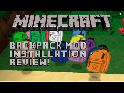 Minecraft 1.5.2 - Backpack Mod - Installation + Spotlight! (Mac)