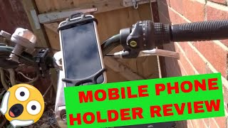 Mobile Phone Bike Mount Holder Review| Bike Buggy Pram
