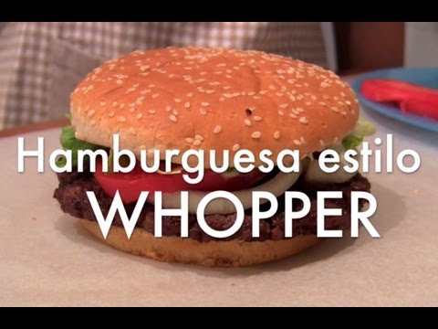 Hamburguesa estilo Whopper - Recetas de cocina