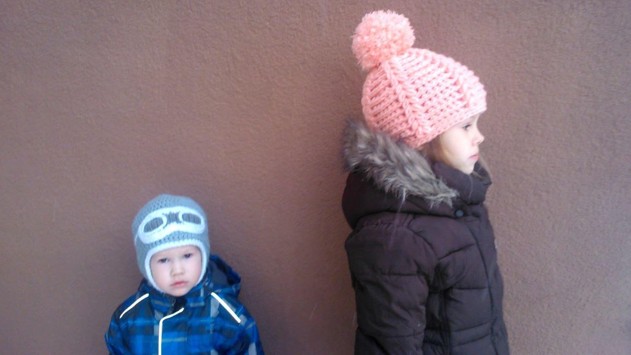 Вязание шапок из пряжи для девочки 23