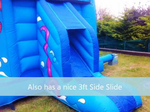 "Check out First Class Castles ""Pirate Paradise"" Bouncy Castle with Slide, Measures19ft(W) x 14ft(L). Great Pirate theme with sealife artwork also, suits both..."